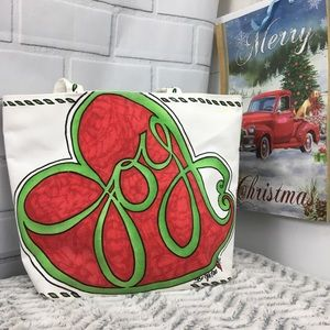 Brighton Joy Holiday Christmas Shopping Tote Bag